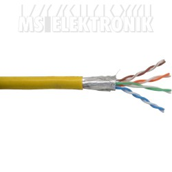 Patchkabel Cat.5e, gelb, SF/UTP, AWG26, PVC, 100m