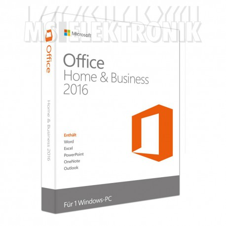 MS Office 2016 Home & Business DE