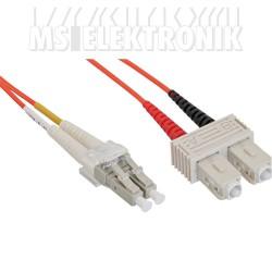 LWL Duplex Kabel LC/SC 62,5/125µm, OM1, 5m