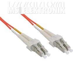 LWL Duplex Kabel, LC/LC, 50/125µm, OM2, 15m
