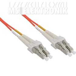 LWL Duplex Kabel, LC/LC, 50/125µm, OM2, 1m
